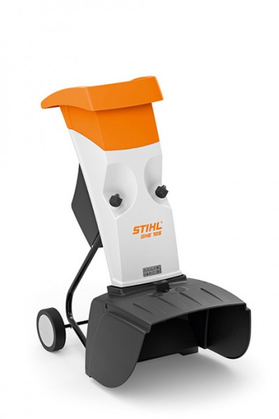 STIHL Elektro-Häcksler GHE 105, kompakter Häcksler mit Einfülltrichter für Astmaterial bis 35mm