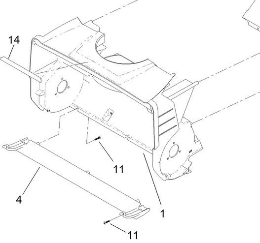 Schürfleiste (Scraper Art.Nr. 137-2277) Zubehör für Toro 60V Schneefräse