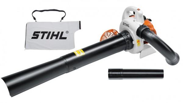 STIHL Benzin-Saughäcksler SH 56, handlicher Saughäcksler mit Fangsackvolumen 45l