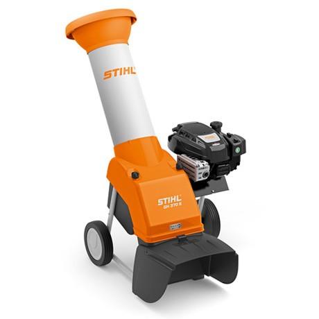 STIHL Benzin Häcksler GH 370 S, kraftvoller Benzin Häcksler für Astmaterial bis 45mm, mit 4,6 PS
