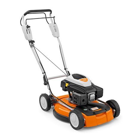 STIHL Benzin-Mulchmäher RM 4 RV, Leistung 3PS, Schnittbreite 53cm für Rasenflächen bis 2500qm