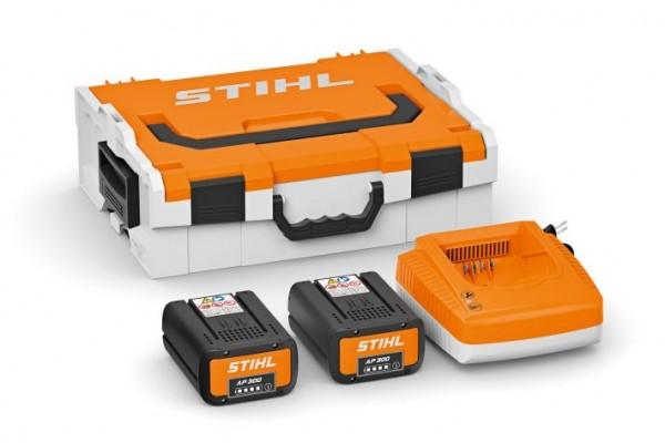 STIHL Akku-Performance Box/ Akku Power Box mit Akku-Box + 2x AP 300 + 1x Ladegerät AL 500