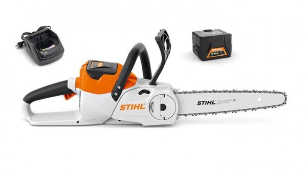 STIHL Motorsäge MSA 140 C-B Set mit AKKU AK 30 und Ladegerät, 30cm Schienenlänge