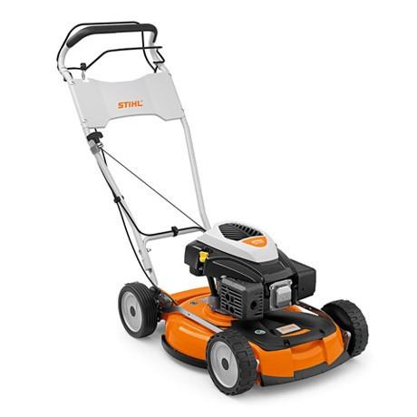 STIHL Benzin-Mulchmäher RM 4 RTP, Leistung 3,5PS, Schnittbreite 53cm für Rasenflächen bis 2500qm